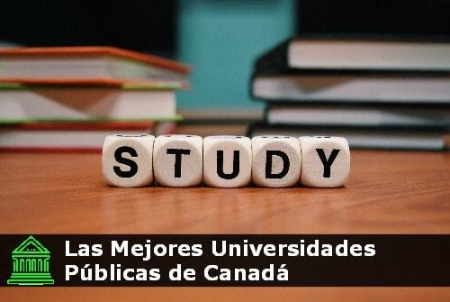 Las Mejores universidades públicas de Canadá
